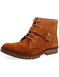 Stylos Men's 249 Tan Synthetic Leather Boots