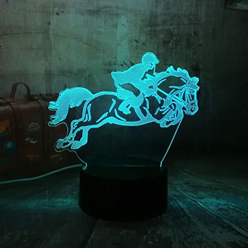llusion Lampe / 7 Farbwechsel Nachtlichter/halloween Geburtstagsgeschenk/nachtlicht/wohnkultur/Reiten Pferd ()