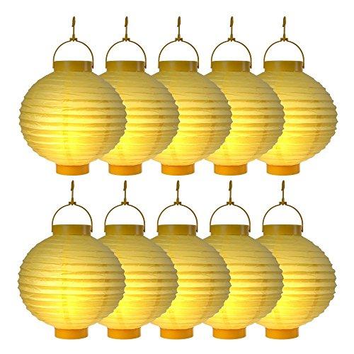 Lampions Gelb Laterne Lampion Garten Balkon Terrasse Party Beleuchtung Dekoration (Gelbe Laternen)