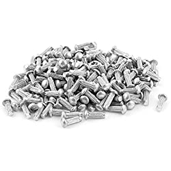 "200Pcs 3/32""x 5/16"" de aluminio redondo Head Solid Remaches moleteada Shanks"