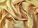 Uni Taft Kleid Stoff gelb–Meterware