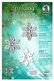 Ursus 21710099 - Bastelset Sparkling Ornaments Eiskristalle, Material für 8 Ornamente