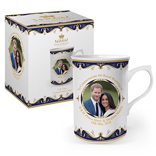 Tasse zum Gedenken an die Hochzeit von Prinz Harry und Meghan, feines Porzellan, mehrfarbig, 10,5x 7,5x 10cm, von Viscount Heritage