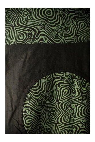 Robe teuffeuse motifs tribal - Noir