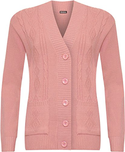 WearAll -  Cardigan  - Donna Dusky Pink