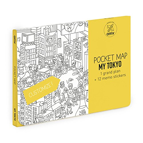 OMY Tokio Pocket Map, Papier, mehrfarbig
