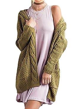 Jusfitsu Mujer De Invierno Suelta Chaqueta De Abrigo Chaqueta De Punto Jersey De Abrigo