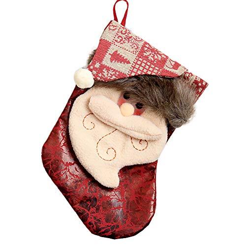 Igemy Frohe Weihnacht Plüsch Baum Hängendes Geschenk Süßigkeit Große Socken Dekoration (A) -