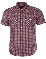 Para hombre Levis Barstow Western Shirt en azul y naranja