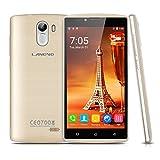 Landvo XM100S - 3G Smartphone Libre Android 5.1 Multi-Idioma (Pantalla 5.0'' IPS, MT6580M Quad Core 1.3GHz, 1G Ram, 8G Rom, Dual Sim, Smart Wake GPS WIFI) (Oro)
