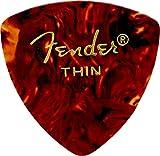 Fender 098-0346-700 346 Shape Picks, Lot de 12 médiators, Ecaille, Thin