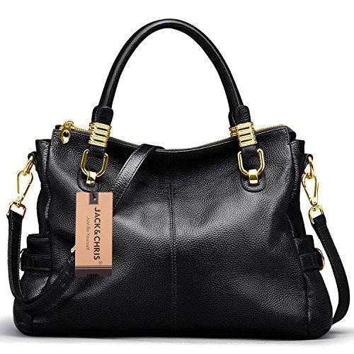 jack-chris-exquisite-women-ladies-genuine-leather-tote-satchel-shoulder-handbag-sf0951-black
