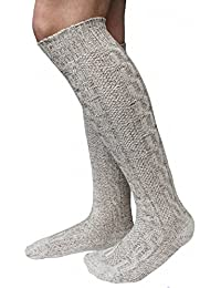 LANGE Trachtensocken Trachtenstrümpfe Zopf Socken 70cm