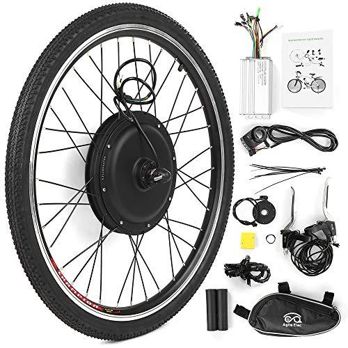 Walmeck- Kit de conversión de Bicicleta eléctrica Bicicleta Rueda Trasera Buje Motor Kit 48V 1000W...
