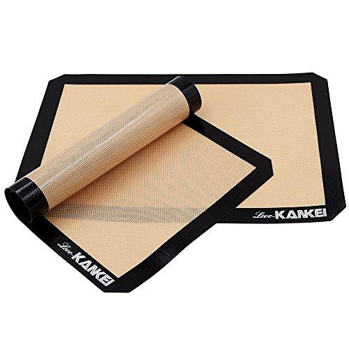 [Backmatte] Love-KANKEI® Silikon Backunterlage Dauerbackfolie Antihaftbeschichtet, BPA frei, 2 Stück, 29.5 x 42 cm