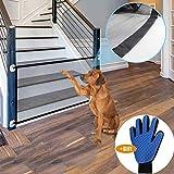 Nifogo Magic Gate for Dog - Pet Dog Cassaforte Portatile Pieghevole Isolamento Rete,Sicurezza Isolamento Pet Enclosure Net, Griglia di Protezione per Cani per Scale,110 x 72cm(1Gate + 1Guanti)