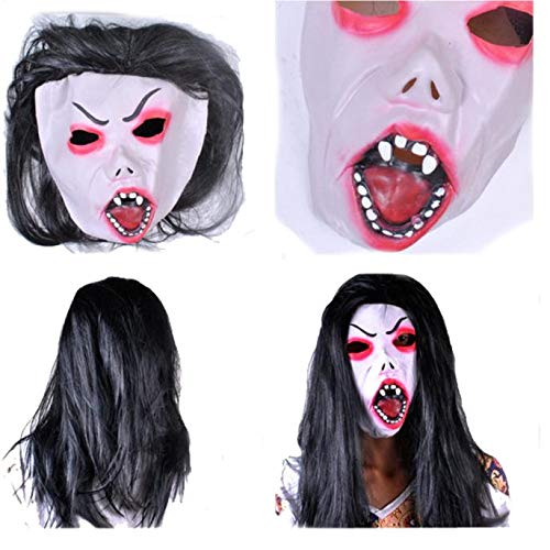 Kostüm Holloween Geister - Halloween Scary Maske für Männer Blood Zombie Maske Latex Kopf Maske Halloween Kostüm Party Requisiten