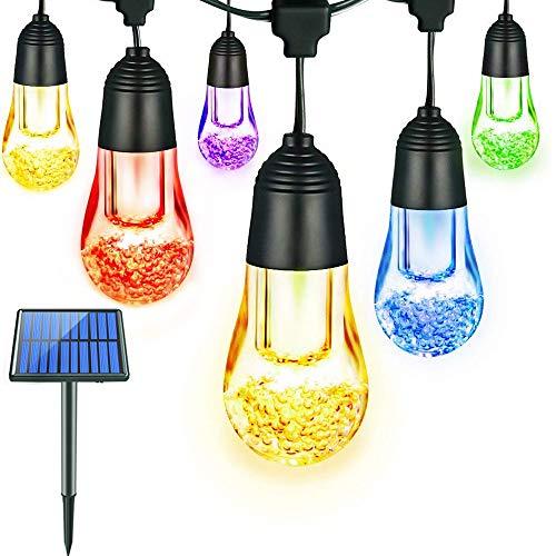 Solar String Lichter, 12 LED Glühbirnen, LED Solar -