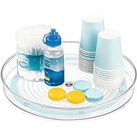 mDesign Rangement Maquillage tournant – Organisateur Maquillage pour cosmétiques et médicaments – Meuble de Rangement…