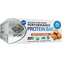 Garden of Life - Sport Performance organique végétale protéines Bars mer Sel Caramel - 12 Barres