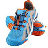 Tbest Scarpe da Sub, Scarpe da Spiaggia Sportive Scarpe da Asciutto a Secco Scarpe a Piedi Nudi Scarpe da Trail Running per Escursionismo Alpinismo (38-Rosa e Blu)