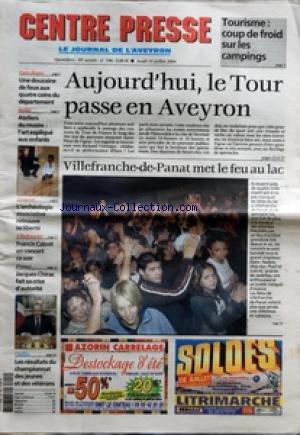 CENTRE PRESSE LE JOURNAL DE L'AVEYRO...