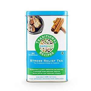 Mamaearth Traditional Recipe Organic Stress Relief Herbal Green Tea Bags - Pack Of 1
