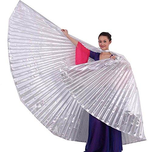 Ukamshop 1PC Ägypten Bauchtanz -Kostüm Flügel Bauchtanz Zubehör Maskenspiel Keine Sticks (Silber) (Silber Flügel Kostüm)