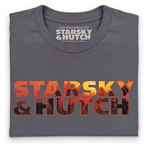 Official Starsky And Hutch Sunset Logo, Damen Anthrazit