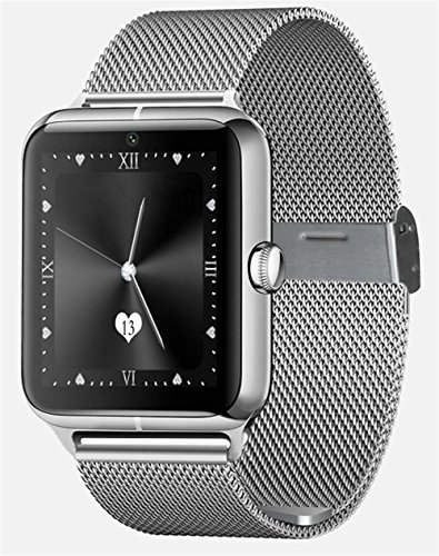 WGE Bluetooth Smart Watch mit Kamera unterstützt SIM-Karte Handgelenk Armbanduhr Touchscreen Smart Watch Schrittzähler Armband für Smartphones, 1