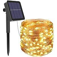 Luci Solari Esterno, Litogo 12m 120 LED Catena Luminosa Esterno Filo Luci Led 8 modalità Lucine da Esterno Decorative…