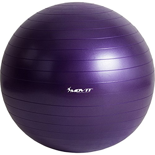 MOVIT Gymnastikball »Dynamic Ball« inkl. Handpumpe, 65 cm, Violett, Maximalbelastbarkeit bis 500kg, berstsicher, Fitness-Ball, Sitzball, Yogaball, Pilates-Ball, Balance