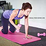 Andrew James Dumbbells | 3KG Each | For Men & Women | Non-Slip PVC Coating | For Home Gym Exercise & Workouts