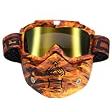 Wooya Abnehmbare Modulare Maske Shield Brille Full Face Schützen Für Motorrad Helm-Gold
