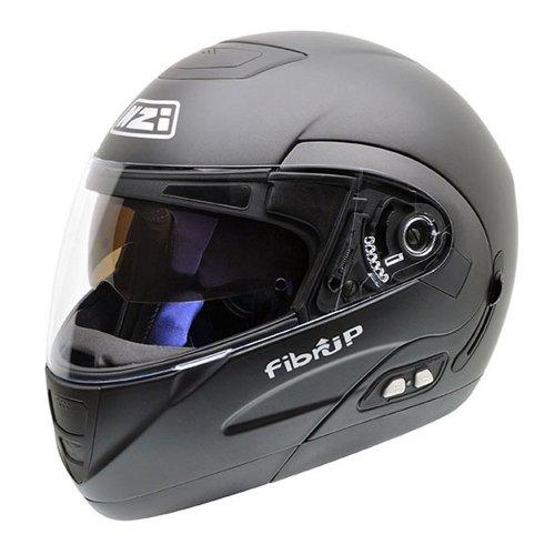 NZI Fibrup PH Casco de Moto, Negro Mate, 58-59 (L)
