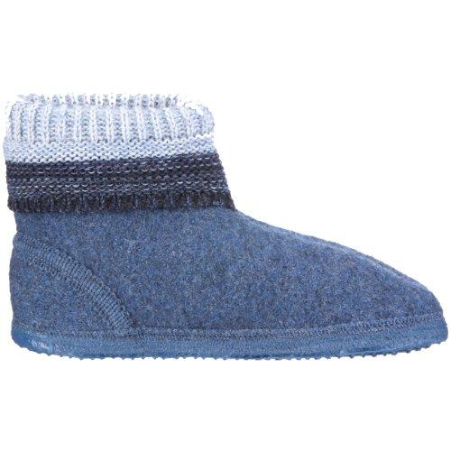 Giesswein - Pantofole a collo alto, Unisex - bambino Blu (Blau (Jeans))