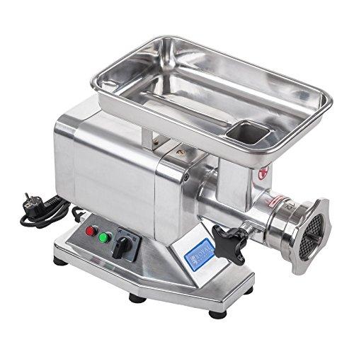 Fleischwolf Wurstmaschine Fleischmaschine (elektrisch, 120kg/h, 850 W, 2 Lochscheiben 5/8 mm, PRO-Serie,