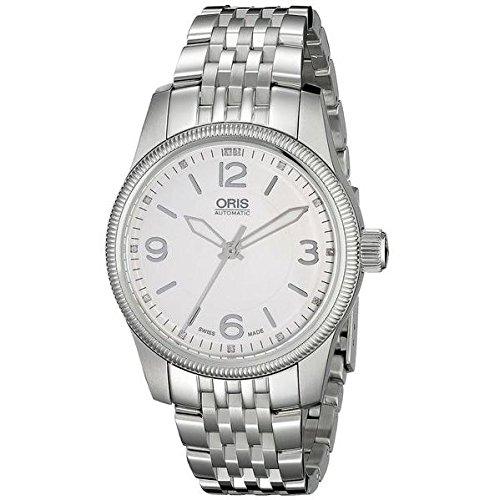 Oris Men's 38mm Steel Bracelet & Case Sapphire Crystal Automatic Silver-Tone Dial Watch 73376494031MB