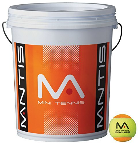 MANTIS Orange Tennis Etape 2 Balls Seau 6 Dozen