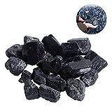 FOONEE Piedras de shungite, 100 g, turmalina Negra, para purificación de Agua, joyería