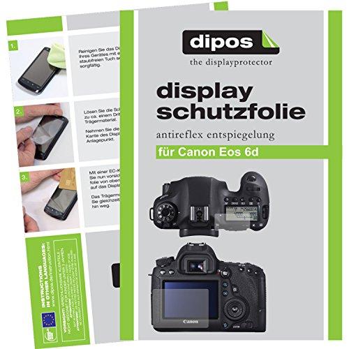 dipos I 6X Schutzfolie matt passend für Canon EOS 6D Folie Displayschutzfolie