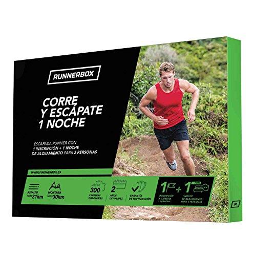 RunnerBox - Caja regalo para runners - CORRE Y ESCÁPATE UNA NOCHE - escapada running - hotel más carrera - 2500 carreras