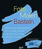 Foto, Malen, Basteln schwarz: Kalender zum Selbstgestalten -
