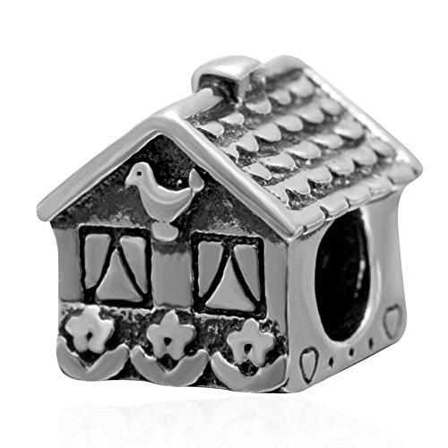 Sweet home charm in argento sterling 925genuine house bead fit bracciale in stile europeo