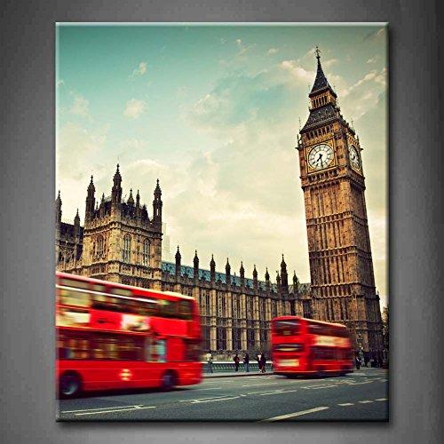 Schwarz und Weiß & Rot Rot Bus Motion Big Ben Palace of...