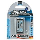 ANSMANN maxE 9V Block Typ 300  vorgeladener 9V Akku geringe Selbstentladung Akkubatterie