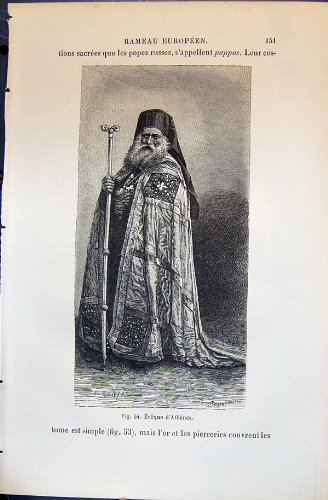 Eveque D'Athenes Menschliche Rassen Humaines Figuier des (1880 Kostüm)