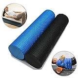 Tutoy 60X 14.5 Cm Eva Yoga Pilates Inicio Gimnasio Espuma Rodillo Masaje Gatillo Punto-Azul