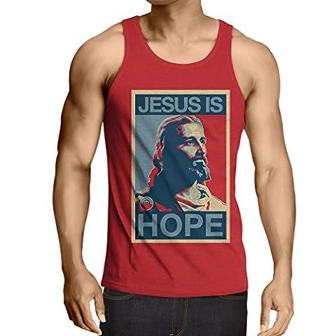 Weste Jesus ist die Hoffnung (XX-Large Rot Mehrfarben)