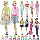 ZITA ELEMENT 15 Stück Puppen Zubehör für Barbie Puppen Cocktailkleid Ballkleid Partymode Puppenkleidung Kleider Schuhe Bekleidung Kleidung